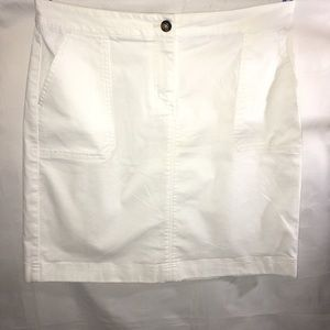 BODEN White chino pencil skirt SIZE: 8L